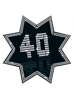 Cut-out étoile 40 ans
