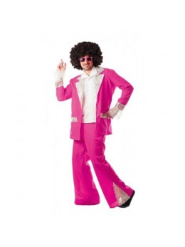 Déguisement disco king fuchsia