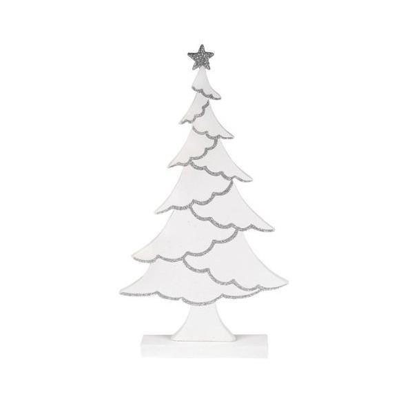 Sapin bois blanc argent 26cm