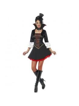 Déguisement vampiresse sexy noir et rouge