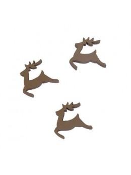 Sachet de 24 rennes brun 2.5cm