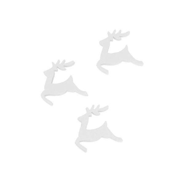 Sachet de 24 rennes blanc 2.5cm
