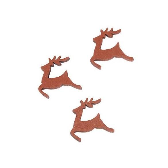 Sachet de 24 rennes rouge 2.5cm