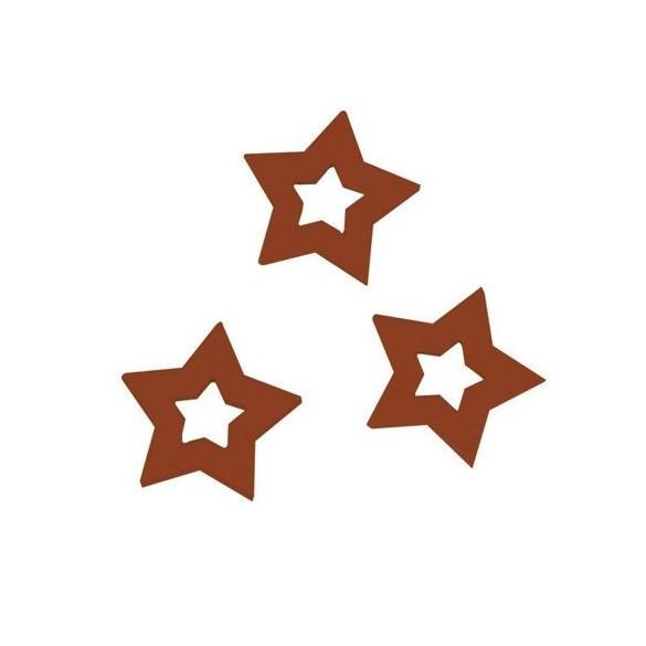 Sachet de 24 étoiles rouge 2.5cm