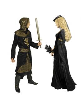 Déguisement chevalier souverain noir