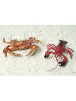 4 Déco écrevisse et crabe 13cm