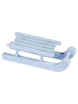 sachet de 4 luges bleu polaire paillettes 6.5cm