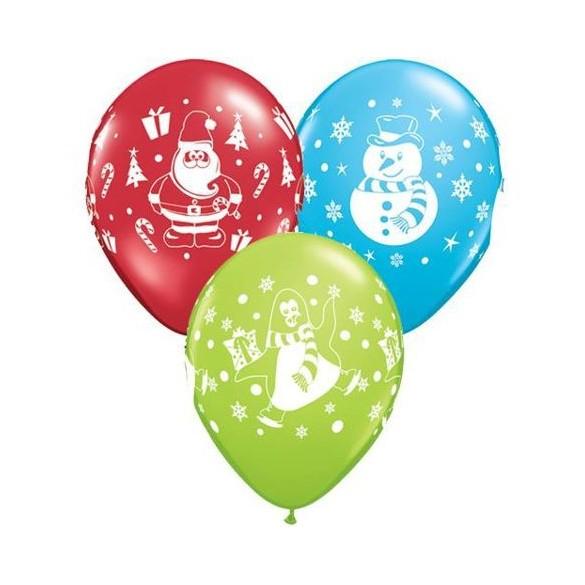 10 Ballons thème Noël