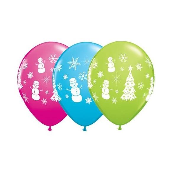 10 Ballons thème Winter