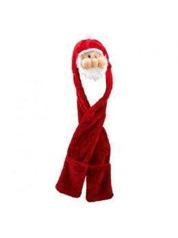 Bonnet écharpe fourrure Père Noël