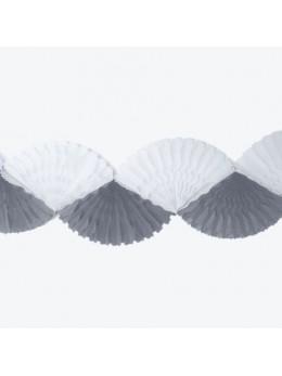 Guirlande Eventail gris blanc