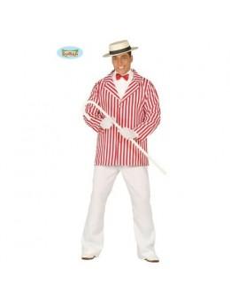 Déguisement veste rayée rouge et blanche