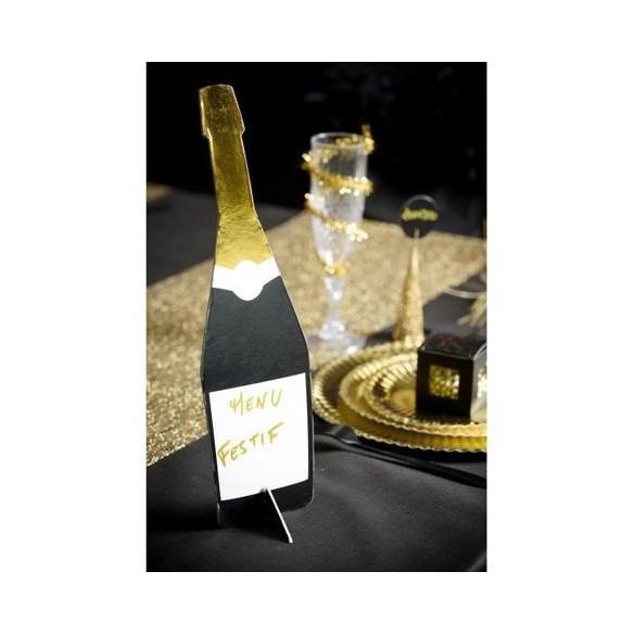 Centre de table bouteille de champagne