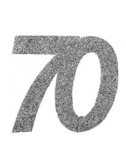 6 Chiffres paillettes argent 70 ans