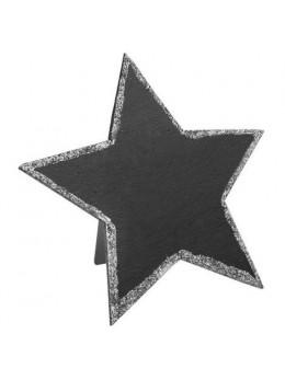Marque-table étoile ardoise argent