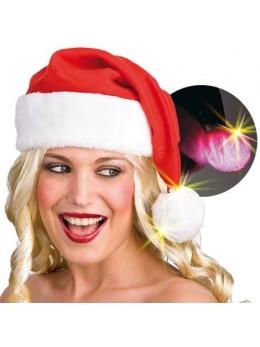 Bonnet Père Noël pompon lumineux
