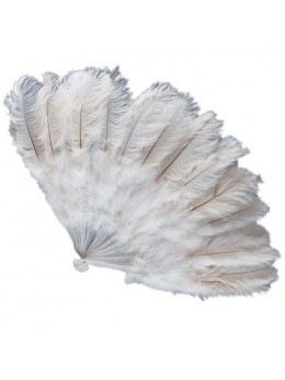 Eventail géant plumes blanches