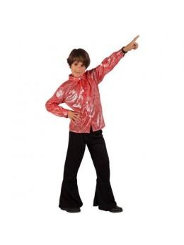 Déguisement disco garçon rouge