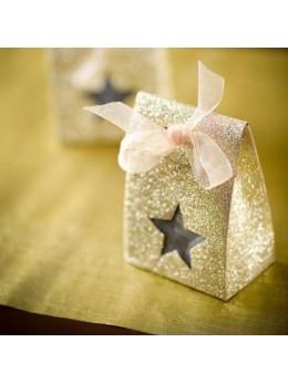 4 Boites étoiles or paillettées
