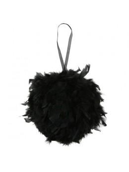 Boule en plumes 30cm noire