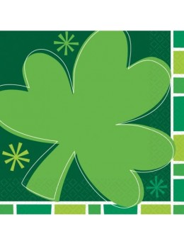 16 Serviettes lunch Saint Patrick
