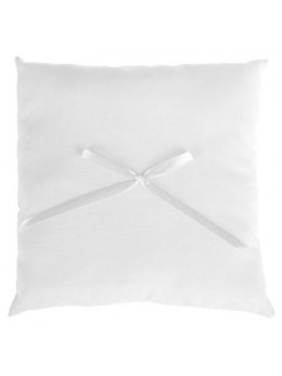 coussin noeud ruban gris
