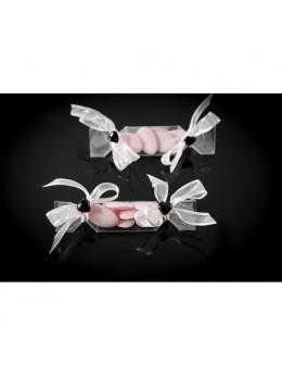 4 boites bonbon avec ruban blanc