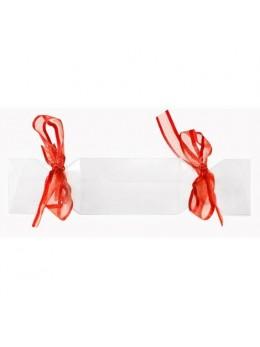 4 boites bonbon avec ruban rouge