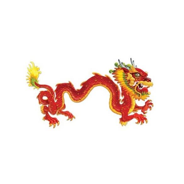 Déco dragon géant chinois