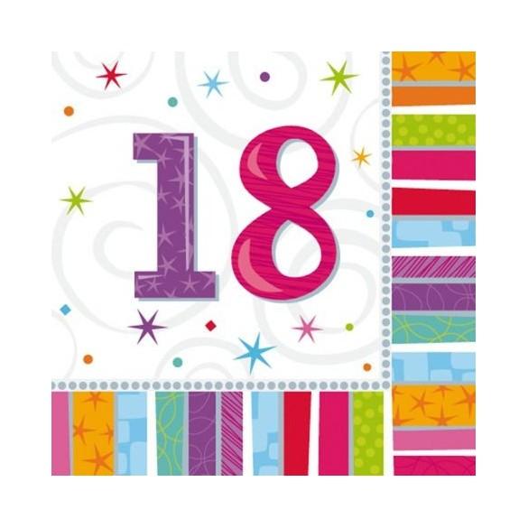 16 Serviettes age 18ans