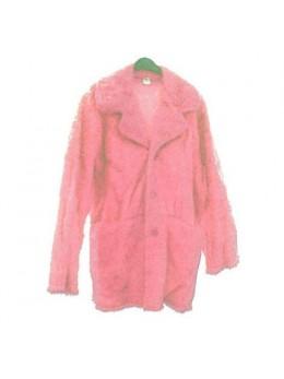 Veste de carnaval femme fourrure rose