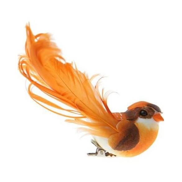 2 grands oiseaux sur pince orange
