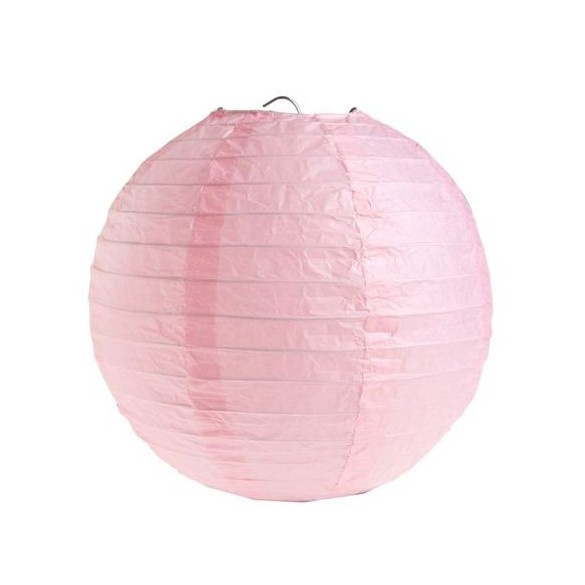2 Lampions ballons rose