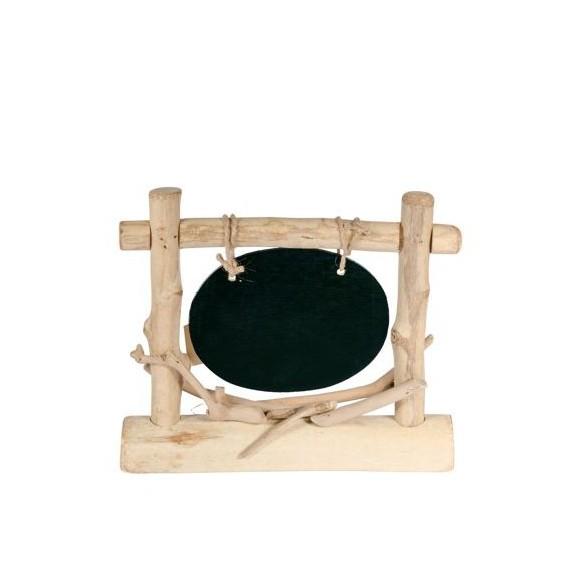 Centre de table avec ardoise ovale 25x21cm