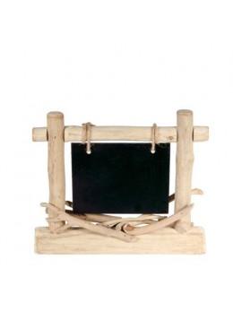 Centre de table avec ardoise rectangle 25x21cm