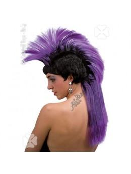 Perruque punk violette