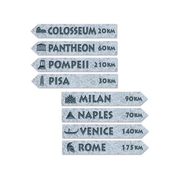 4 Panneaux de rue Italie