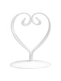 2 Marque place coeur métal blanc