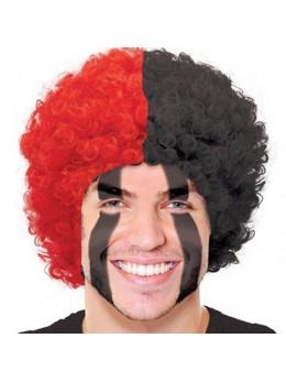 Perruque supporter rouge et noire