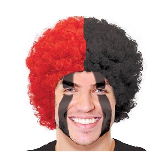 Perruque supporter rouge et noire  8d7e7e7164b5