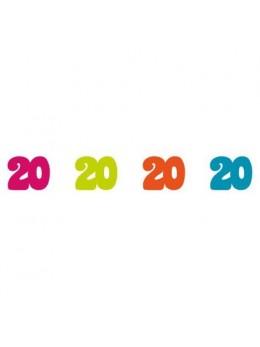 Sachet 100 confetti intissé 20 ans
