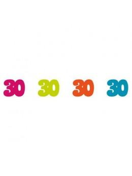 Sachet 100 confetti intissé 30 ans