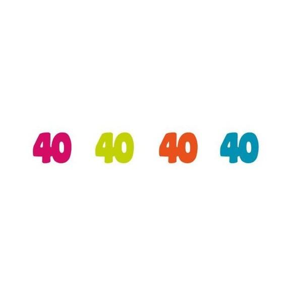 Sachet 100 confetti intissé 40 ans