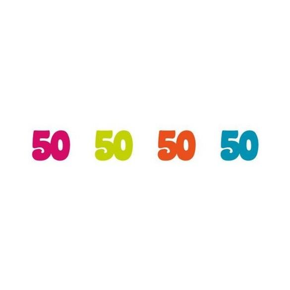 Sachet 100 confetti intissé 50 ans
