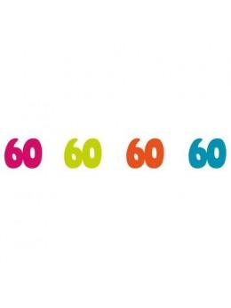 Sachet 100 confetti intissé 60 ans