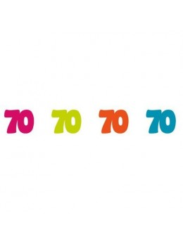 Sachet 100 confetti intissé 70 ans