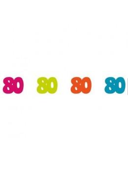 Sachet 100 confetti intissé 80 ans