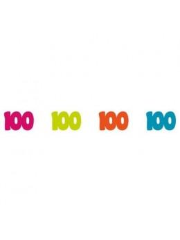Sachet 100 confetti intissé 100 ans