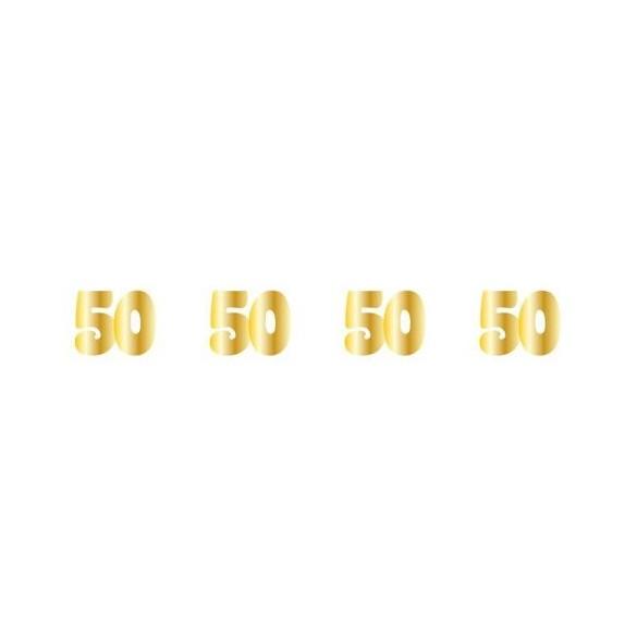 Sachet 100 confetti intissé 50 ans or