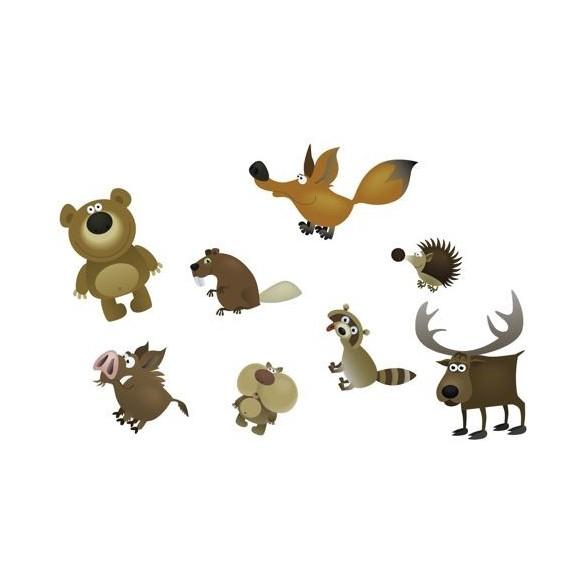 16 confetti de table animaux de la forêt